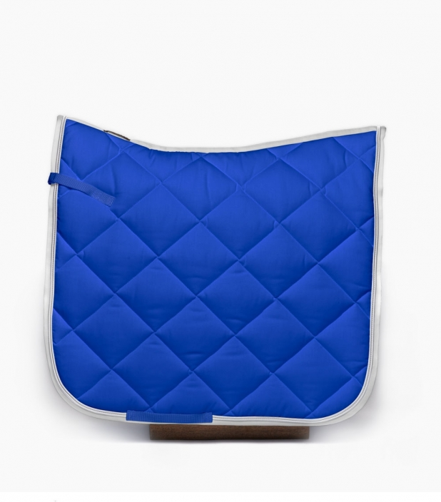 Tapis de dressage 100% coton Bleu/argent/blanc