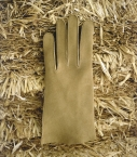 Woman full-leather Saumur gloves, beige