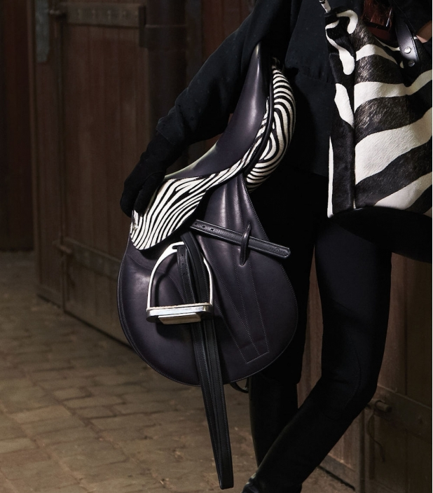 Guibert Paris - Zebrino leather saddle