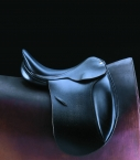 Selle Guibert dressage cuir noir