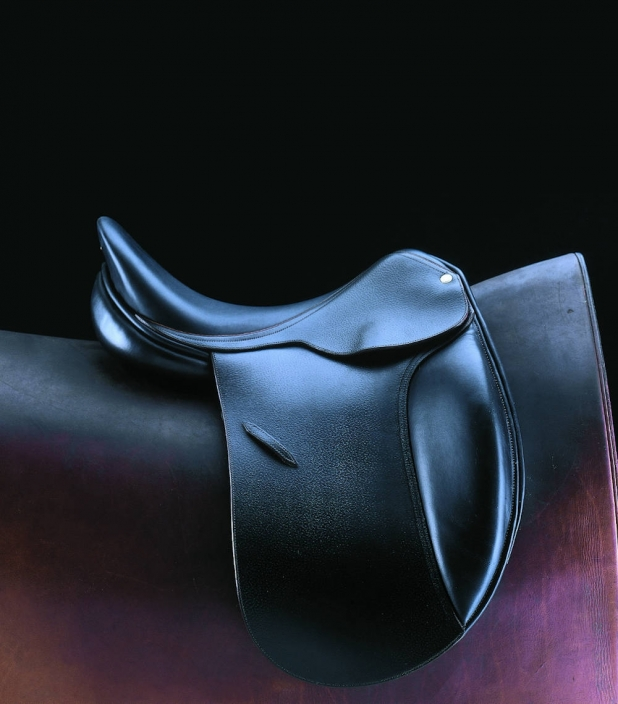 Guibert dressage saddle black leather