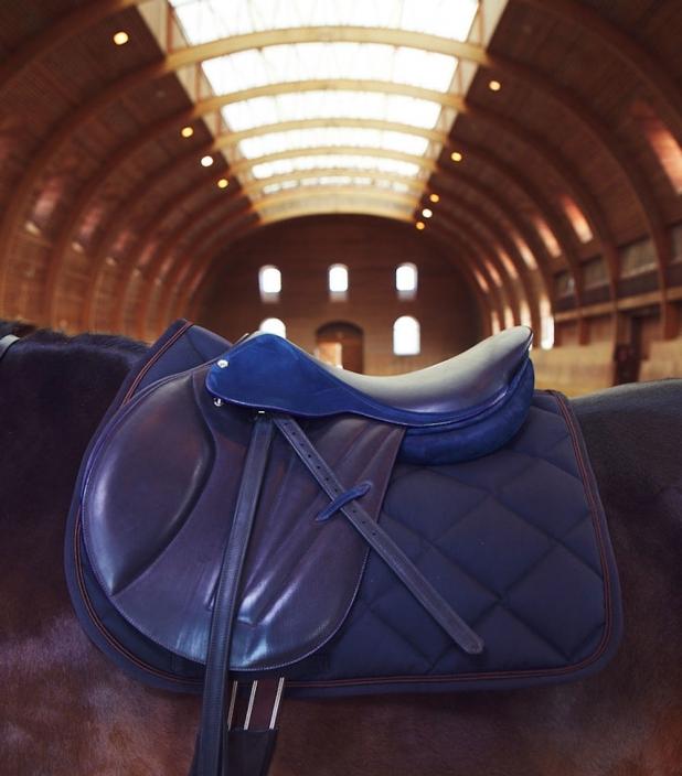 Guibert Paris - Selle sur mesure en cuir bleu