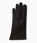 Gants Saumur femme doublés cachemire, noir