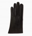 Men full-leather Saumur gloves, black