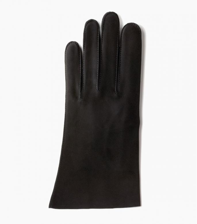 Men full-leather Saumur gloves, black