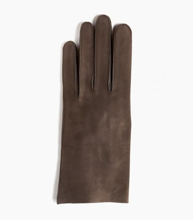 Men full-leather Saumur gloves, bay