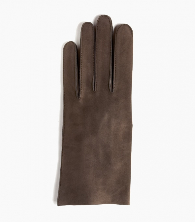 Men full-leather Saumur gloves, bay
