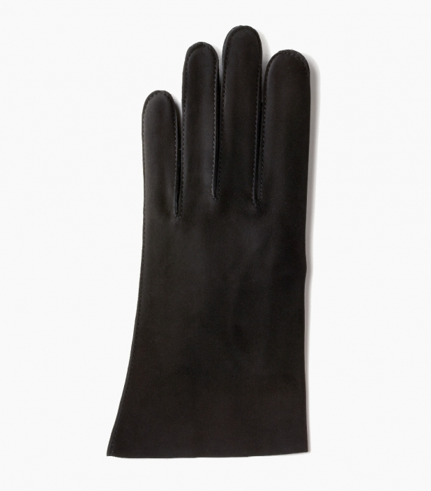 Men Saumur gloves with cashmere lining, black