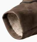 Men Saumur gloves with cashmere lining, black