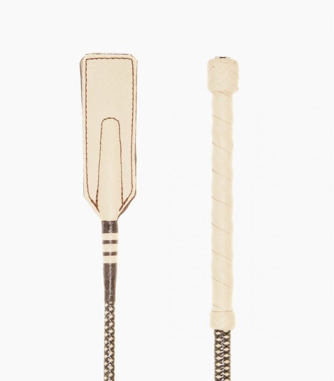 Guibert Paris -Leather and braided coton whip