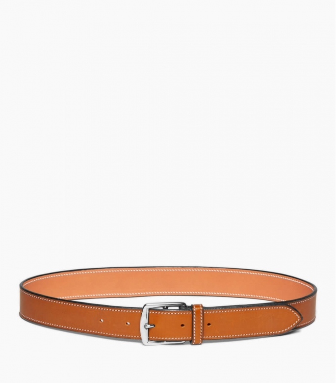 Stirrup buckle leather belt 35 mm