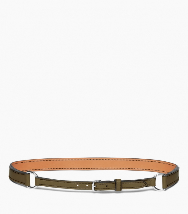 Breastplate collar belt taurillon, kaki