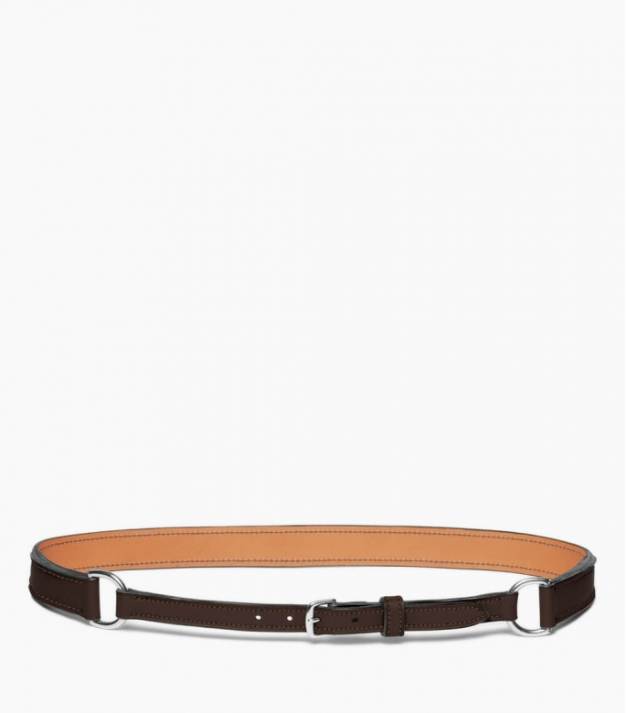 Breastplate collar belt taurillon, havane