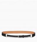 Breastplate collar belt taurillon, black