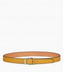 Stirrup buckle belt 30 mm taurillon, straw