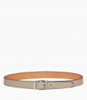 Stirrup buckle belt 30 mm taurillon, dove