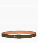 Stirrup buckle belt 30 mm taurillon, kaki