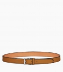 Stirrup buckle belt 30 mm taurillon, camel
