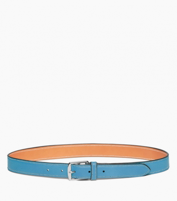 Stirrup buckle belt 30 mm taurillon, dragée