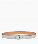Stirrup buckle belt 30 mm taurillon, pebble