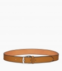 Stirrup buckle belt 35mm taurillon, camel