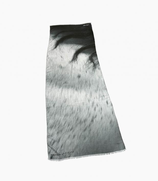 Guibert Paris - Echarpe modal et cachemire imprimé crinière de cheval