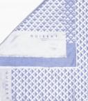 Echarpe Quarter Marker coton & soie, saphir