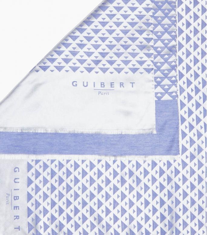 Guibert paris - Echarpe en modal et cashmere Quarter marker rouge et bordeaux