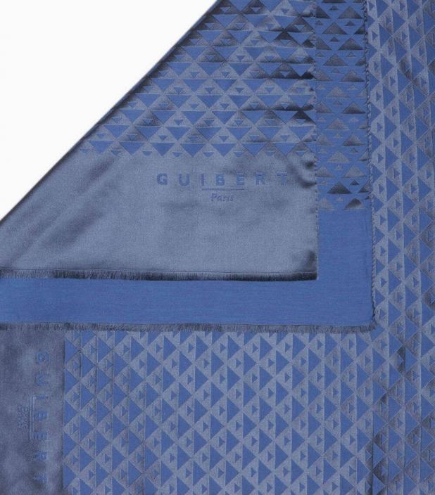 Guibert Paris - Quarter marker red and burgundy scarf