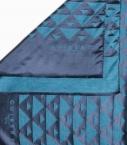 Echarpe Quarter Marker laine & soie, bleu canard