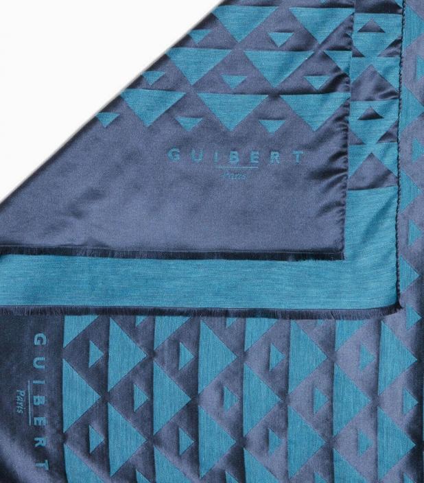 Echarpe Quarter Marker laine & soie, barcelone