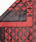 Echarpe Quarter Marker laine & soie, noir & rouge