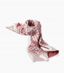 Silk and cotton Quarter Marker scarf, raspberry