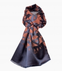 Silk & wool Quarter marker scarf, chestnutt