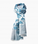Silk & wool Quarter marker scarf, Wertheim