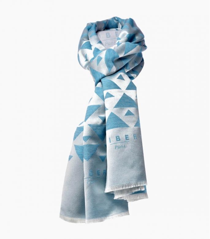 Silk & wool Quarter marker scarf, Wertheim