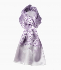 Silk and cotton Quarter Marker scarf, amethyst