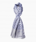 Silk and cotton Quarter Marker scarf, denim