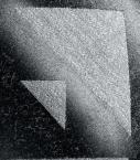 Echarpe Quarter Marker laine & soie, noir et gris clair