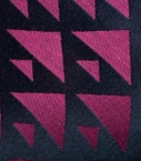 Silk and cotton Quarter Marker scarf, magenta
