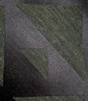 Echarpe Quarter Marker laine & soie, vert et noir