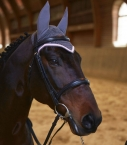 Calf padded Ath. snaffle bridle, black