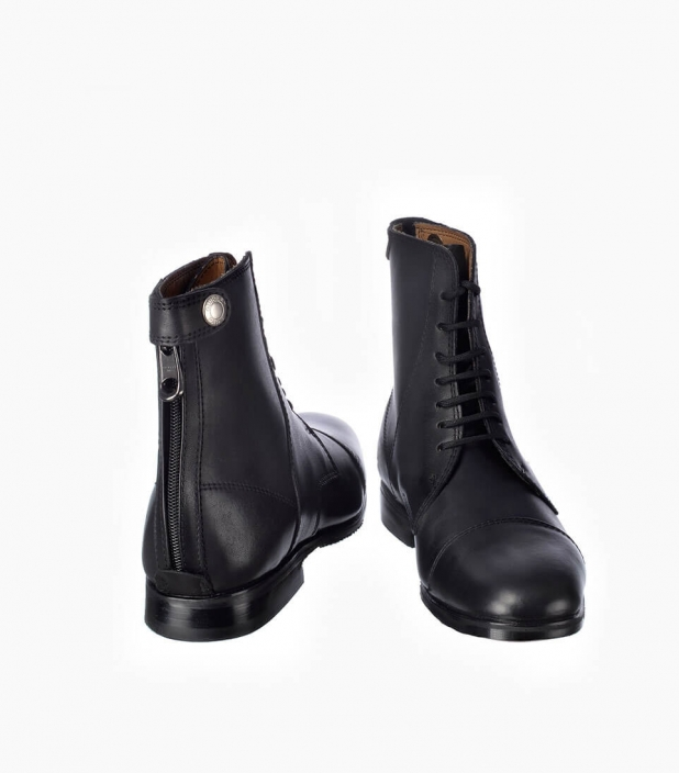 Guibert Paris - Boots derby en cuir box-calf avec zip