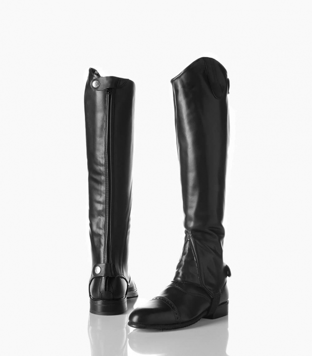 Guibert Paris - Mini chaps en cuir box calf avec zip