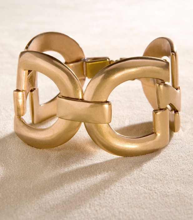 Guibert Paris - Large mesh bronze bracelet