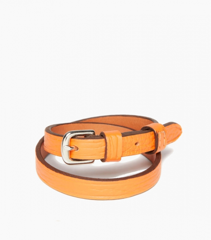 Throatlash bracelet taurillon, orange