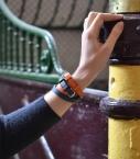 Bracelet sous Gorge taurillon, canard