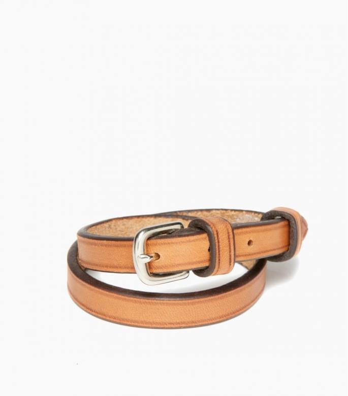 Bracelet sous gorge cuir végétal, gold