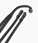 Laced reins Guibert, black