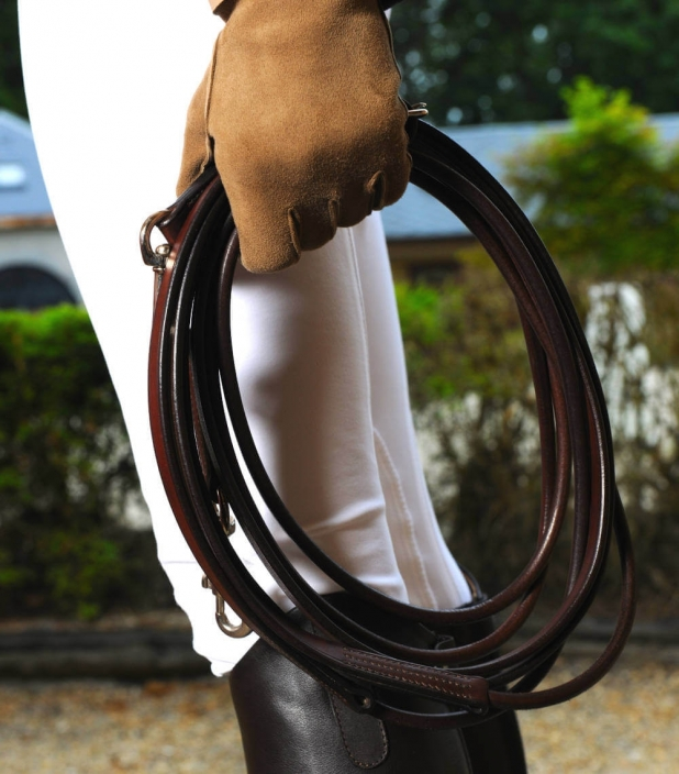 Guibert paris - Draw reins Rolled leather